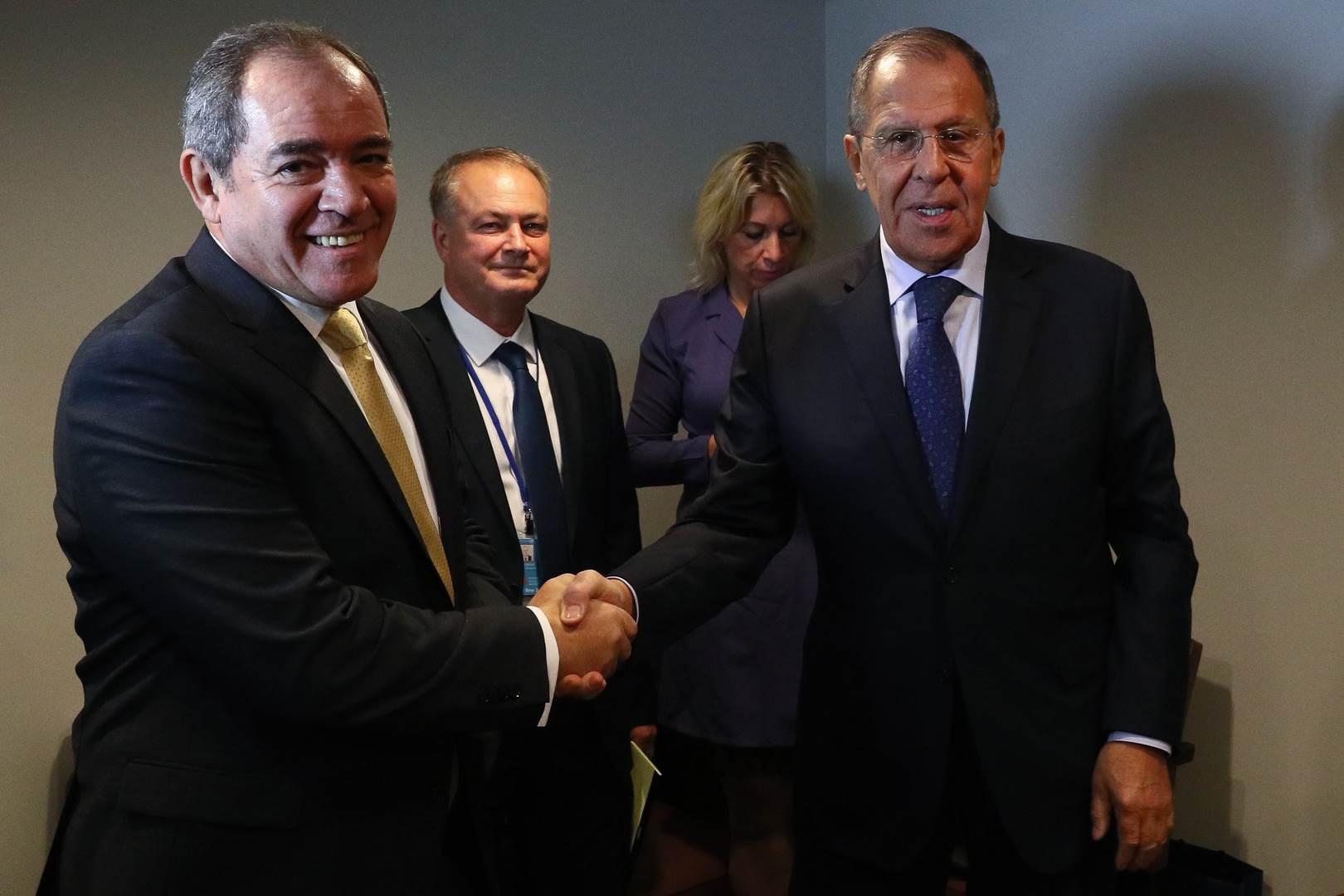 وزيرالخارجية الروسي سيرغي لافروف يستقبل نظيره الجزائري صبري بوقادوم