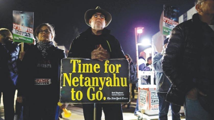 الآلاف يشاركون في تظاهرة ضد نتنياهو أمام مقر إقامته في القدس