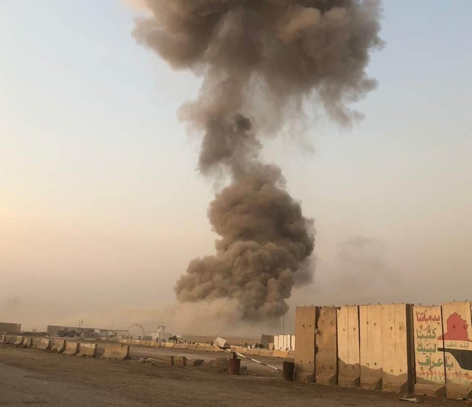 صورة من موقع الانفجار في بغداد (الميادين)
