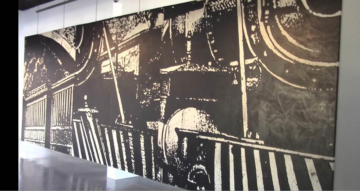 جدارية القطار لمحمود العبيدي