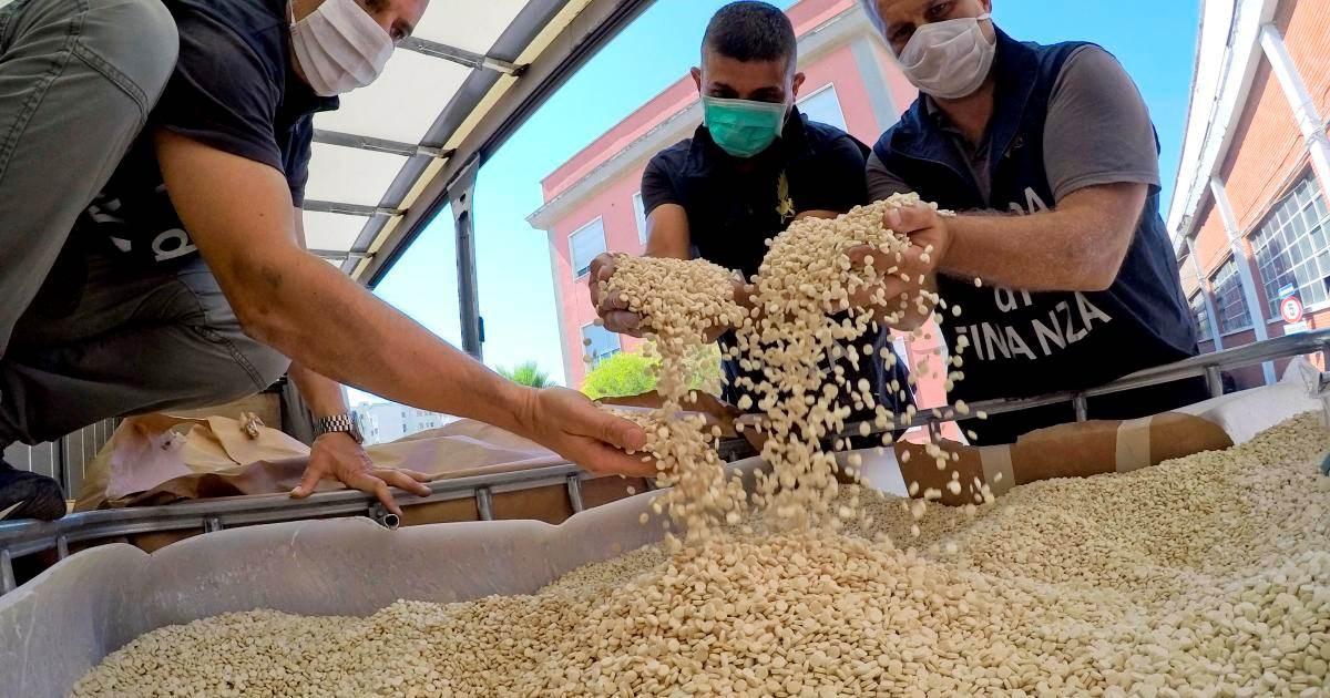 إيطاليا تصادر اكبر  شحنة مخدرات