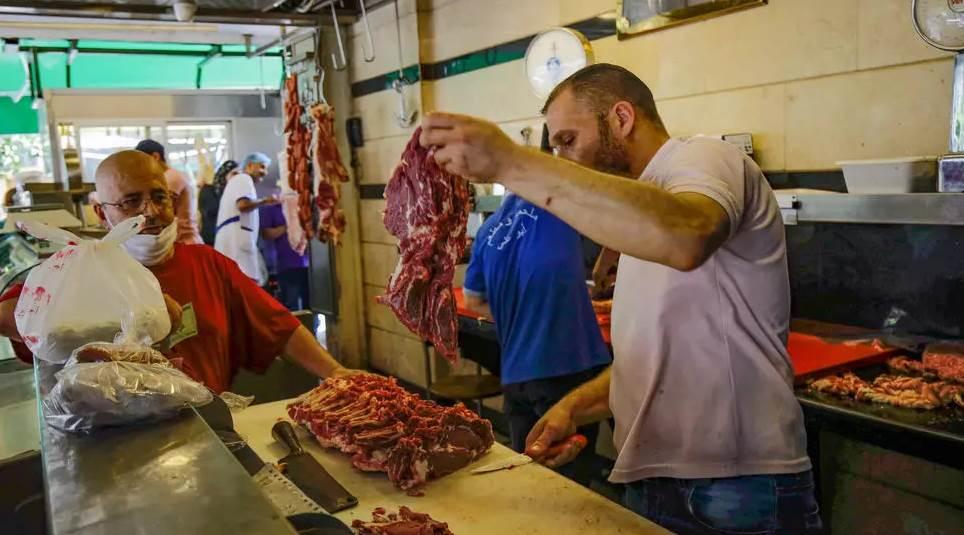 متجر لحوم في لبنان