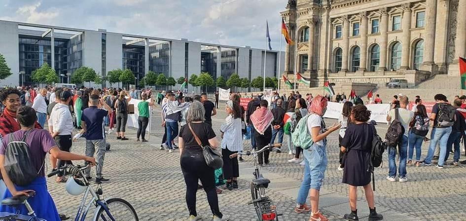 مظاهرات في فيينا وبرلين ضد مخطط الضم