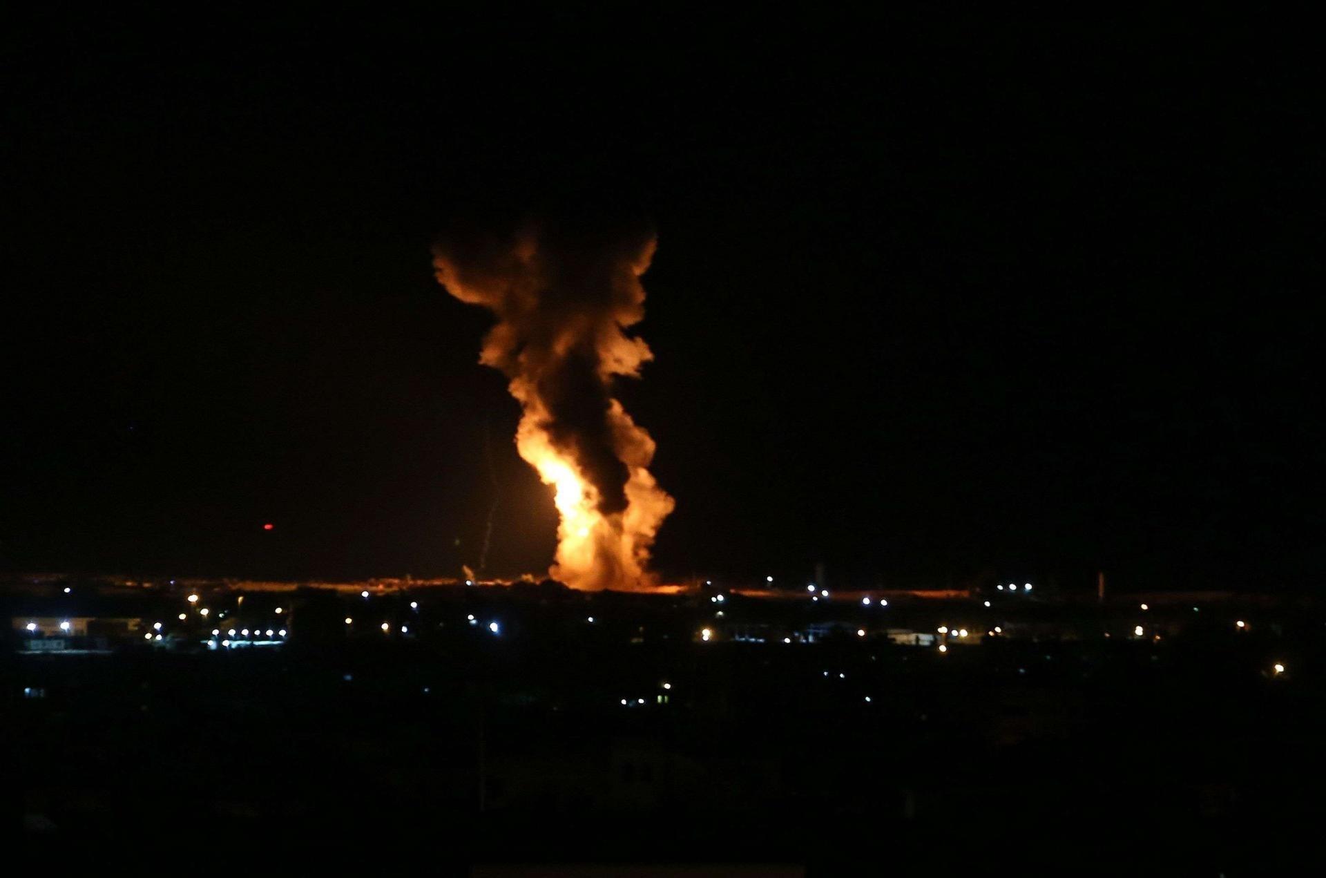 سمع دوي انفجارات شرقي قطاع غزة بحسب ما أكد مراسل الميادين