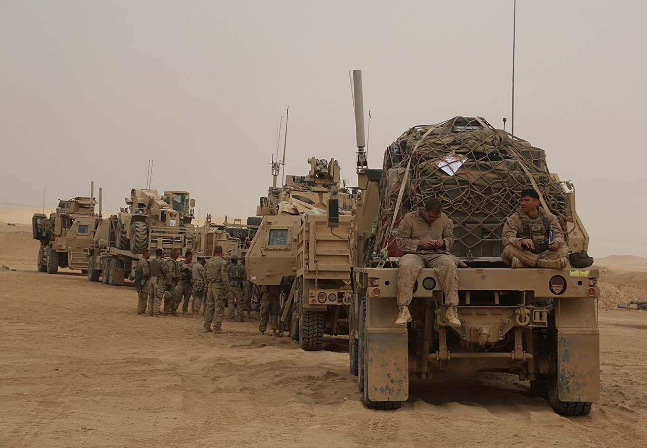- مجموعة المستشارين العسكريين التابعة للتحالف بقيادة واشنطن في العراق تتكون من فرق استشارية من 13 دولة
