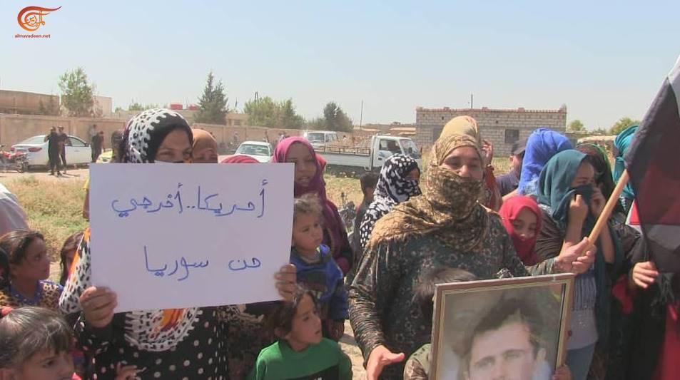 أهالي قرية طرطب بريف القامشلي يرفعون صوتهم في وجه الاحتلال الأميركي والتركي