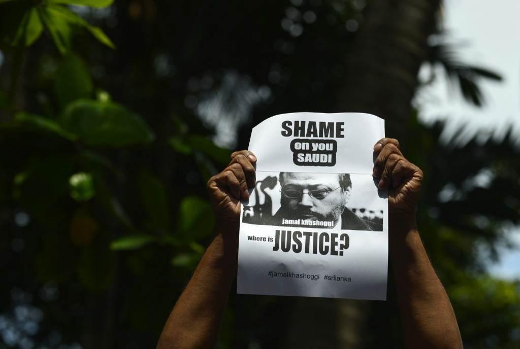 من المظاهرات المطالبة بالعدالة لجمال خاشقجي عام 2018 (أ.ف.ب)