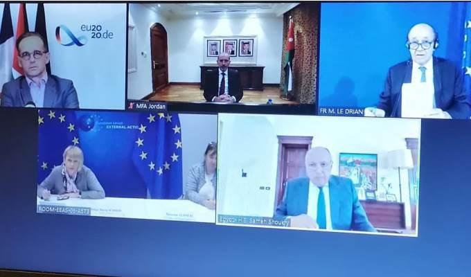 الأردن ومصر وفرنسا وألمانيا: لن نعترف بأي تغييرات في حدود 67 ولخطة الضم عواقب خطيرة