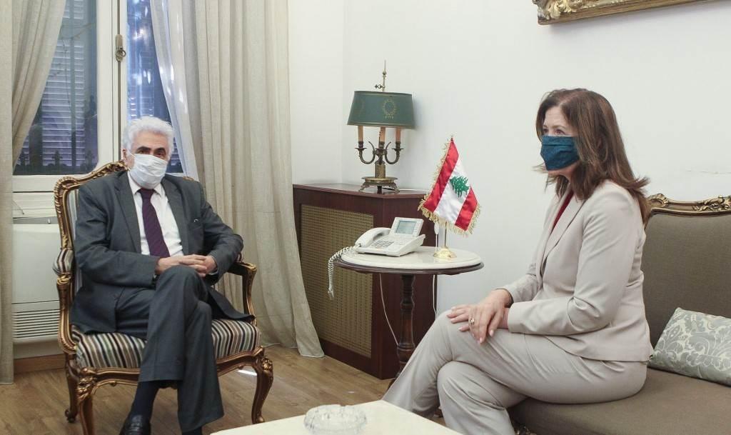 اجتماع وزير الخارجية اللبناني ناصيف حتي مع السفيرة الأميركية دوروثي شيا (دالاتي ونهرا).