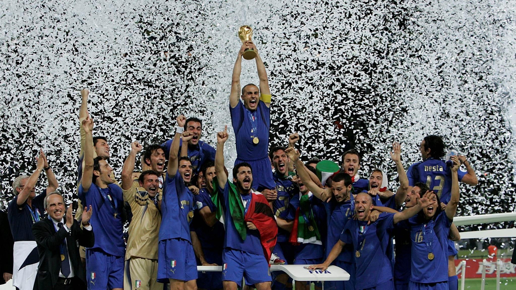 منتخب إيطاليا بطل لكأس العالم 2006 (أرشيف)