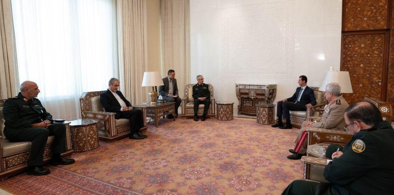 الأسد يستقبل باقري