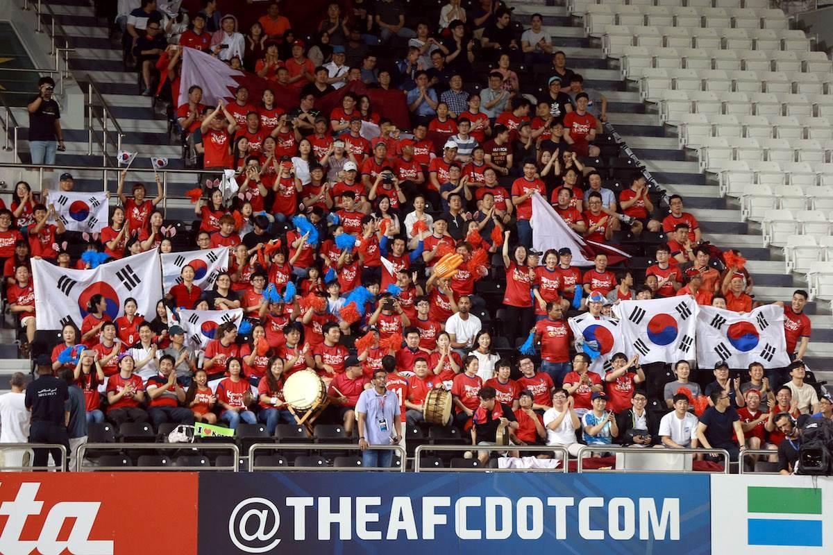 جماهير منتخب كوريا الجنوبية (أرشيف)