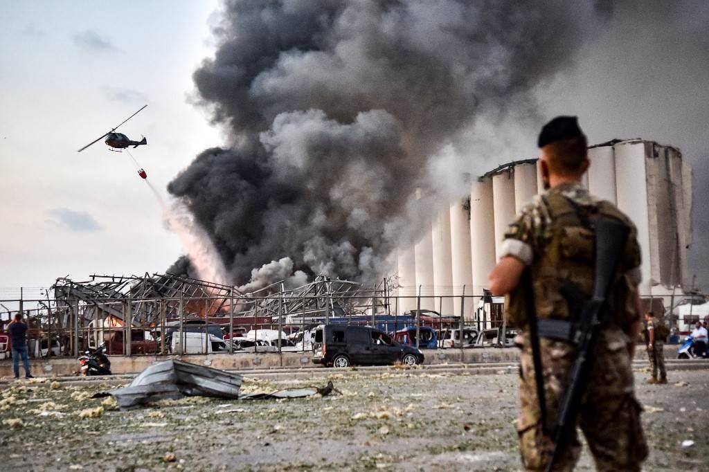 انفجار مرفأ بيروت تسبب باستشهاد أكثر من 155 شخص وإصابة الآلاف