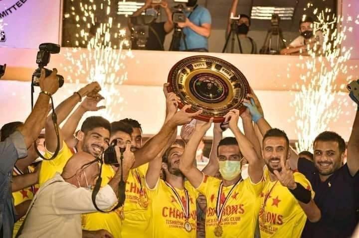 جرى قبل نهائي الكأس تكريم نادي تشرين بدرع الدوري و الميداليات