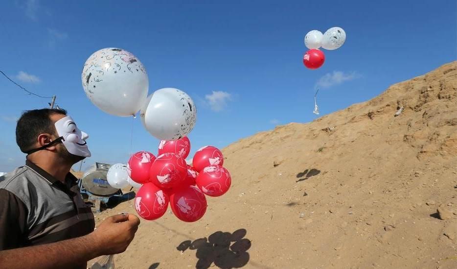 الكيان الصهيوني: سنرد بقوة على إطلاق البالونات الحارقة من قطاع غزة