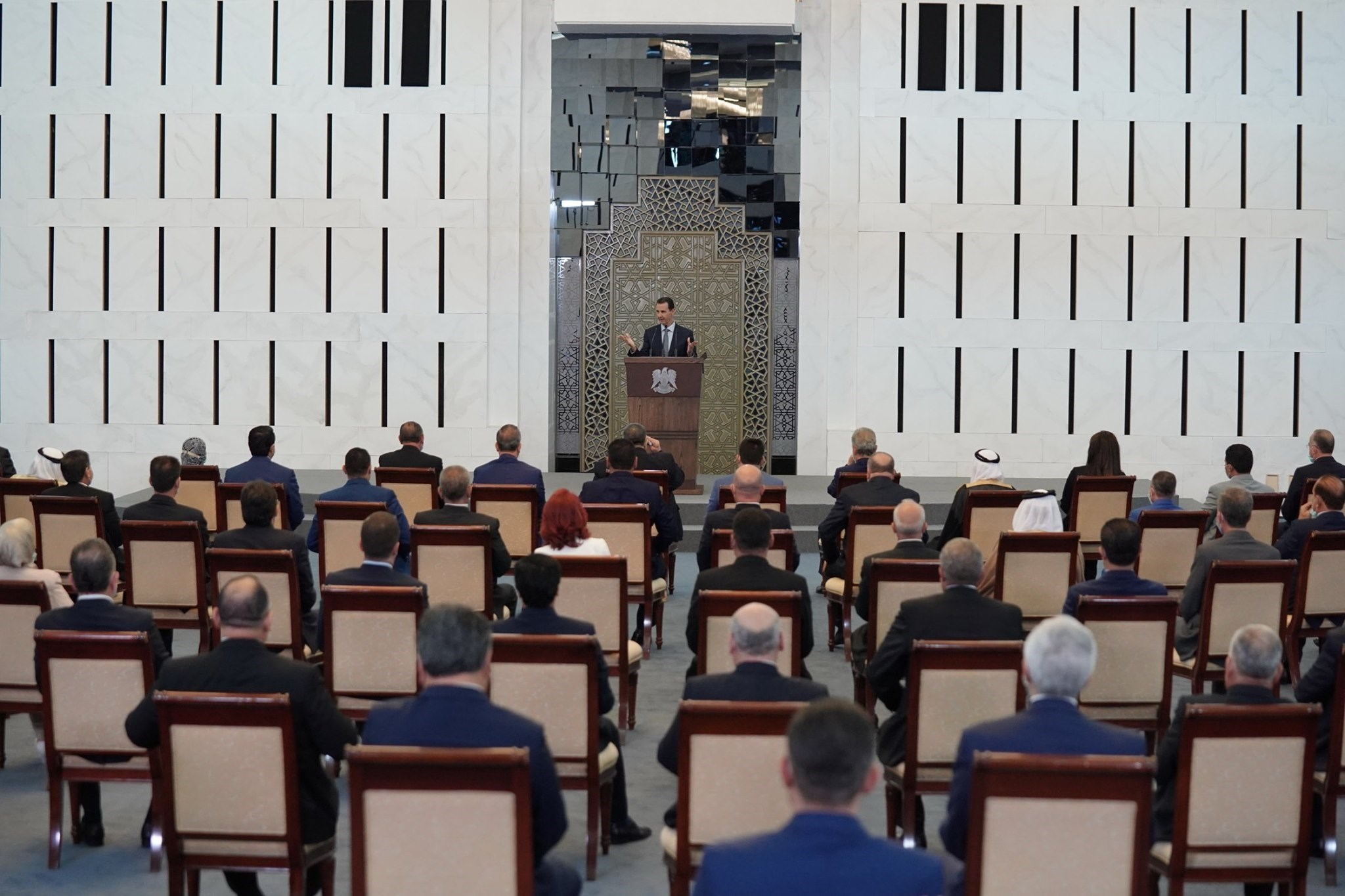 في كلمة الرئيس الأسد أمام البرلمان اليوم وجه لفلسطين رسالة أنها باقية في قلب دمشق