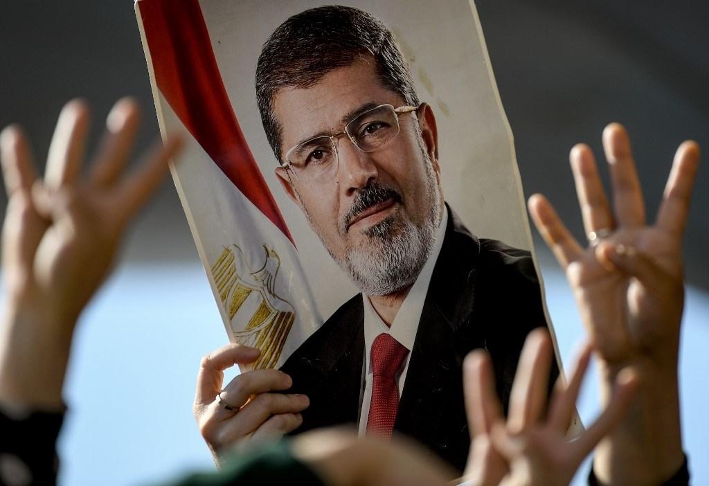 في تأبين لمحمد مرسي في تركيا عام 2019 (أ.ف.ب)
