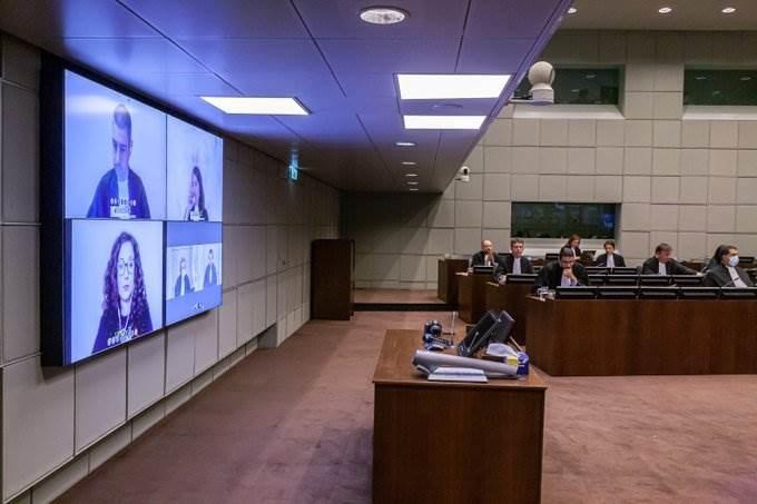المحكمة الدولية الخاصة بلبنان أثناء جلسة النطق بالحكم.