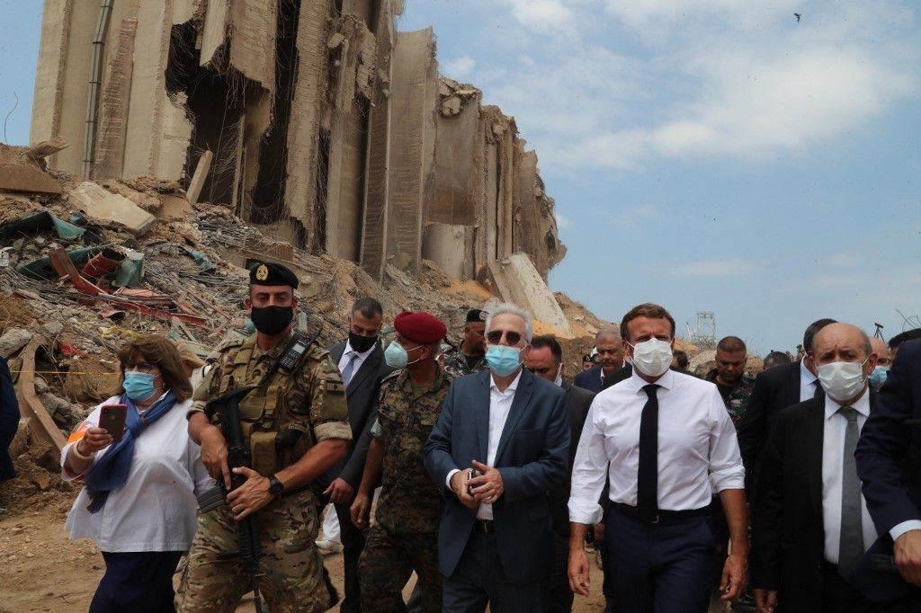 ماكرون خلال زيارته الأخيرة إلى لبنان