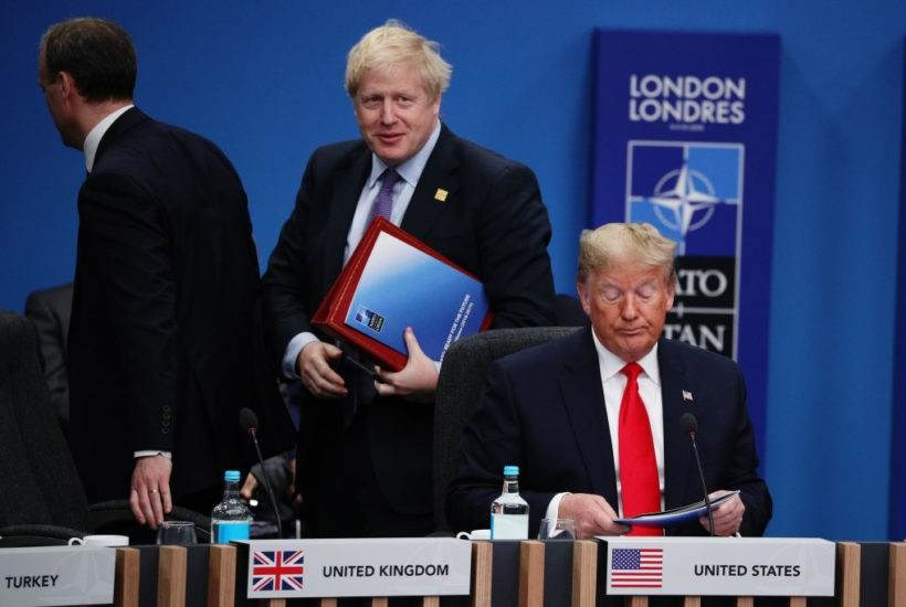 جونسون وترامب في قمة الناتو في لندن في كانون الأول - ديسمبر 2019.