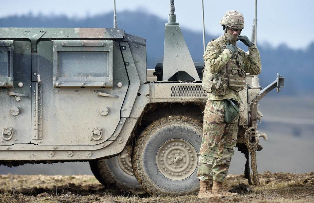 قوات عسكرية أميركية في ألمانيا بداية هذا العام (أ ف ب)