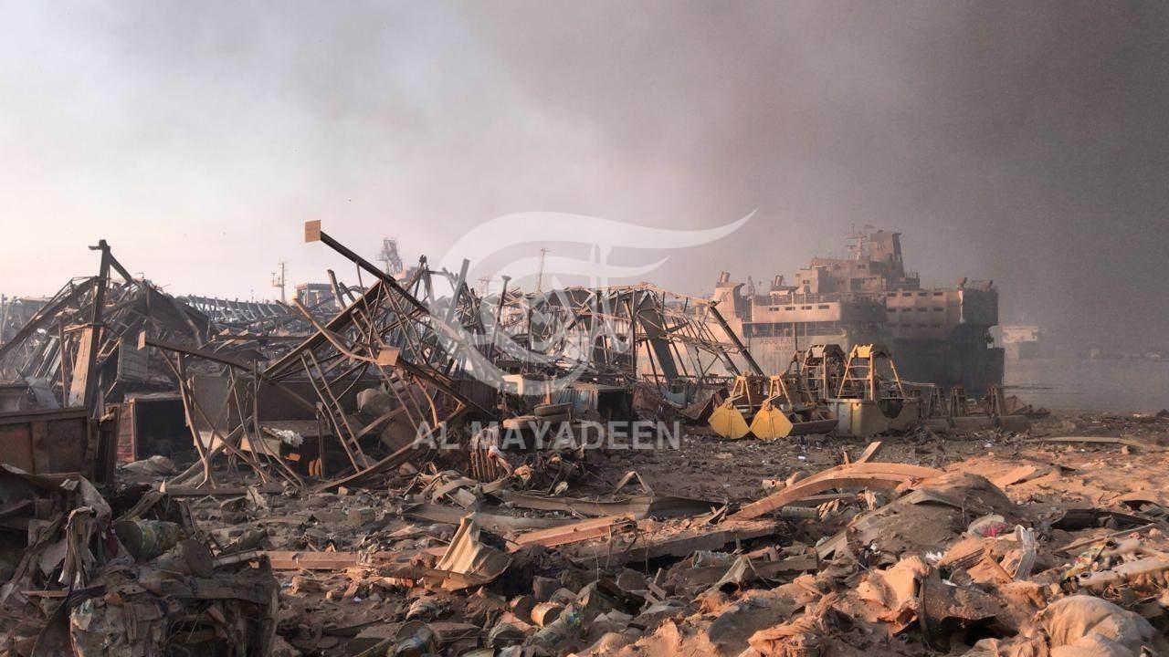 مرجع أمني للميادين: 50 طناً من المواد المخزنة لسنوات انفجرت في مرفأ بيروت