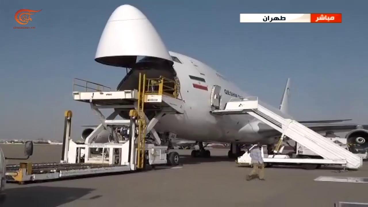طائرة مساعدات إيرانية تتوجه إلى لبنان