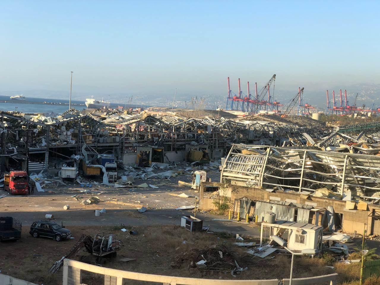 صورة من محيط الانفجار