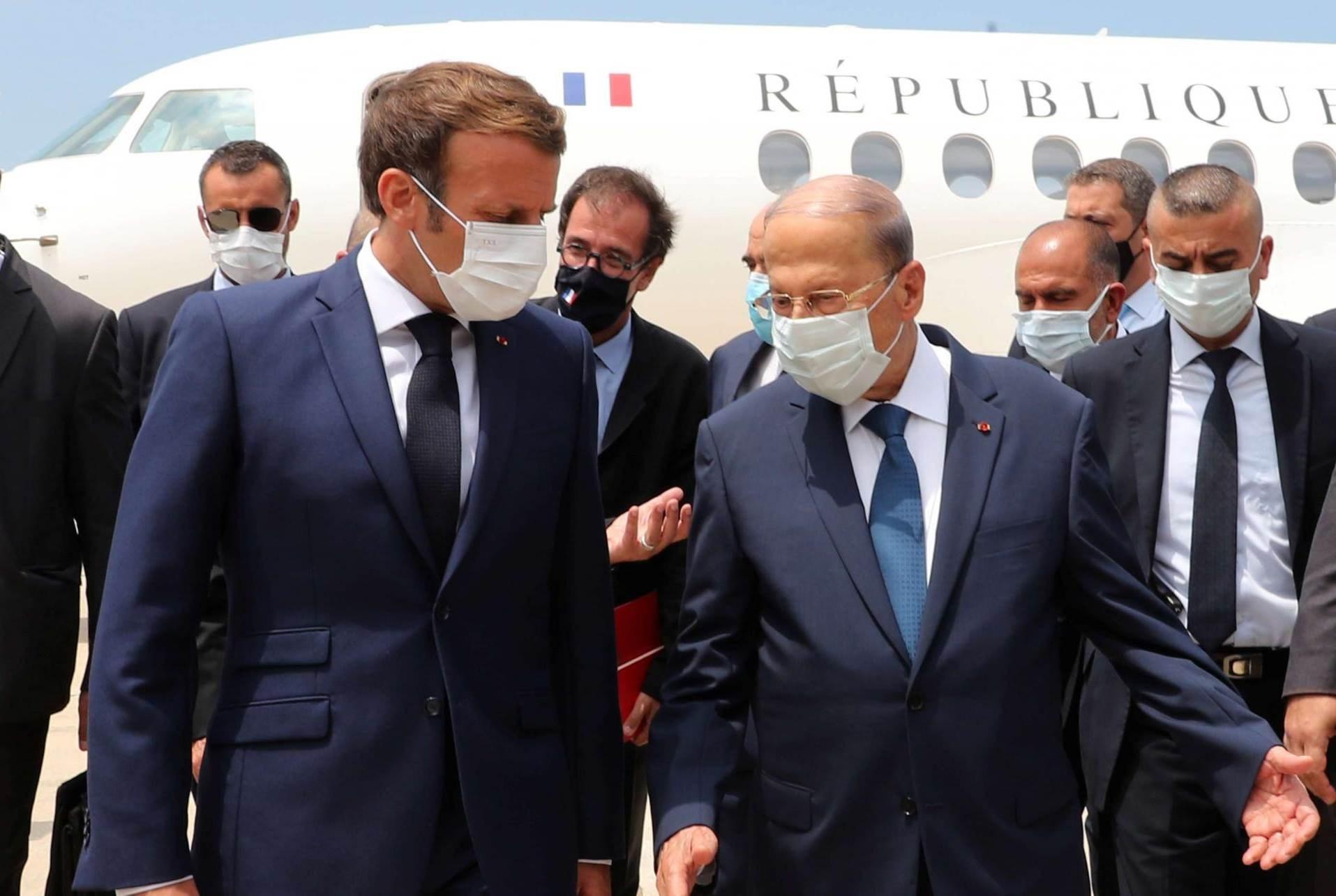ماكرون: لبنان لن يكون وحيداً في مواجهة الصعاب