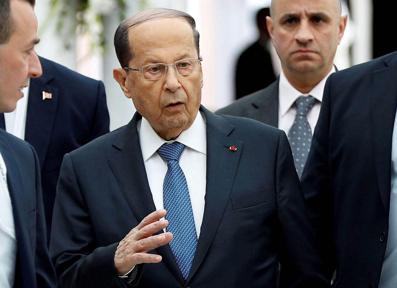 عون: الحادث فك الحصار عن لبنان وستبدأ عملية إعادة الإعمار بأسرع وقت