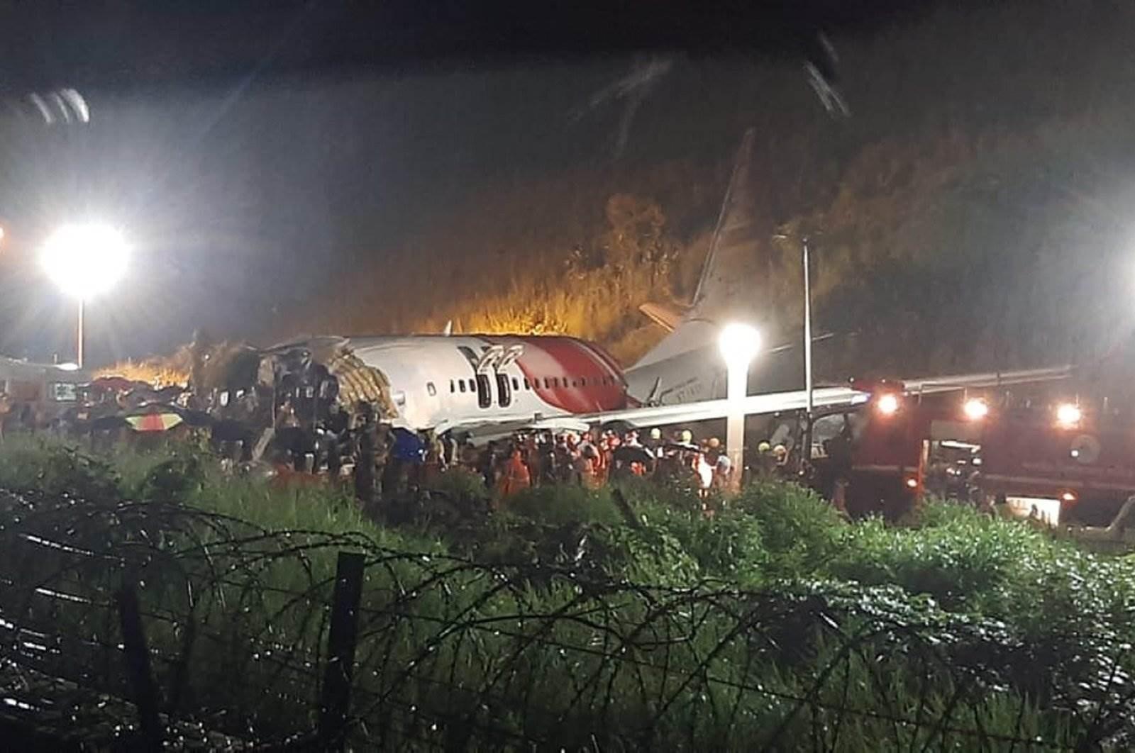 الطائرة الهندية كانت قادمة من دبي وعلى متنها 190 شخصاً