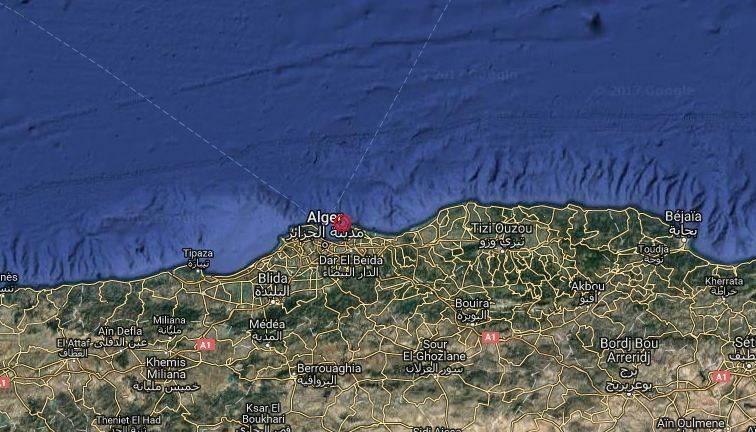 بلغت قوة الزلزال الأول الذي ضرب شمال الجزائر 4.9 درجة على مقياس ريختر