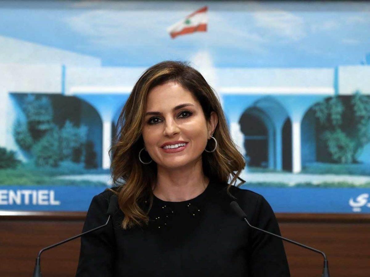 وزيرة الاعلام منال عبد الصمد