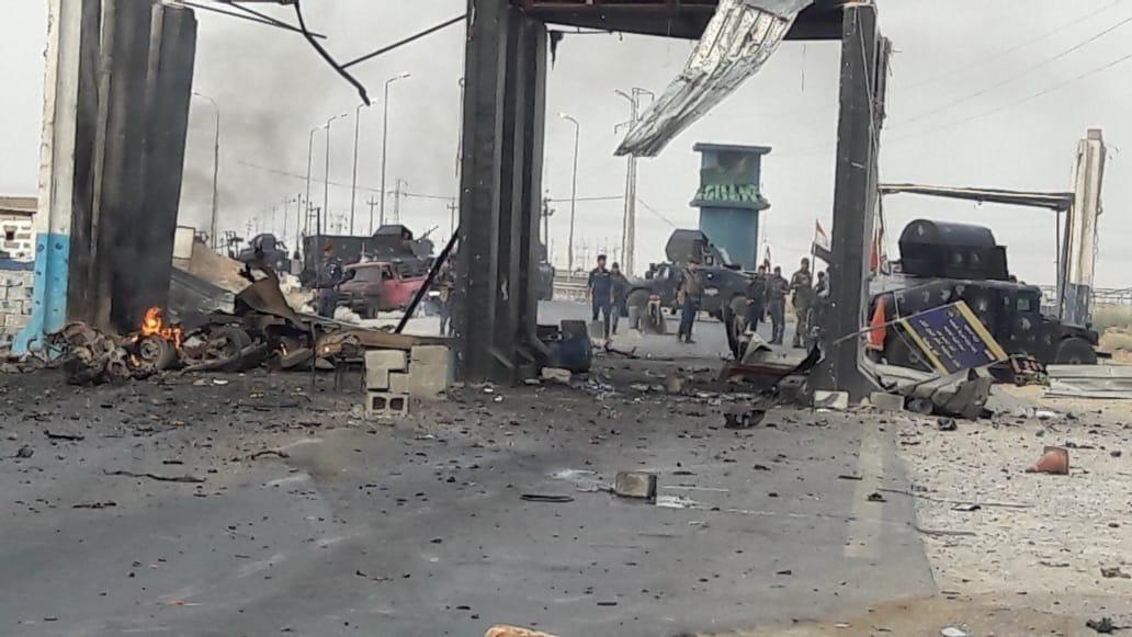 انفجار عجلة مفخخة في سيطرة