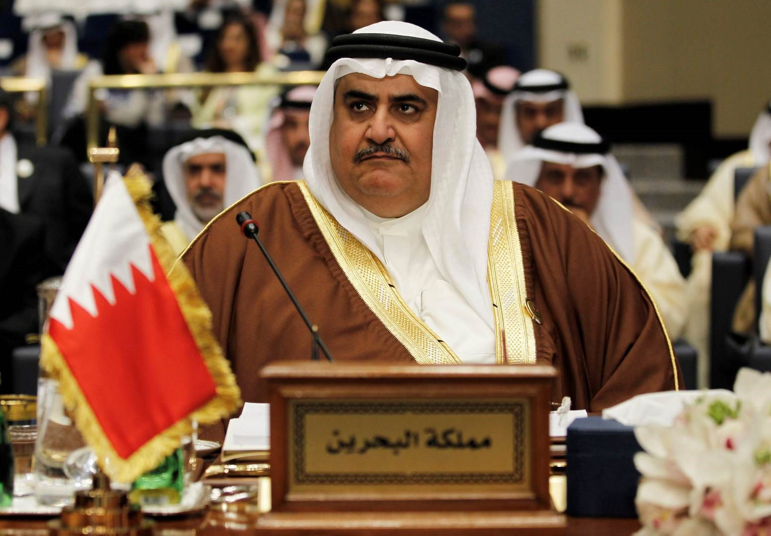 خالد بن أحمد آل خليفة يوجه رسالة وصفها
