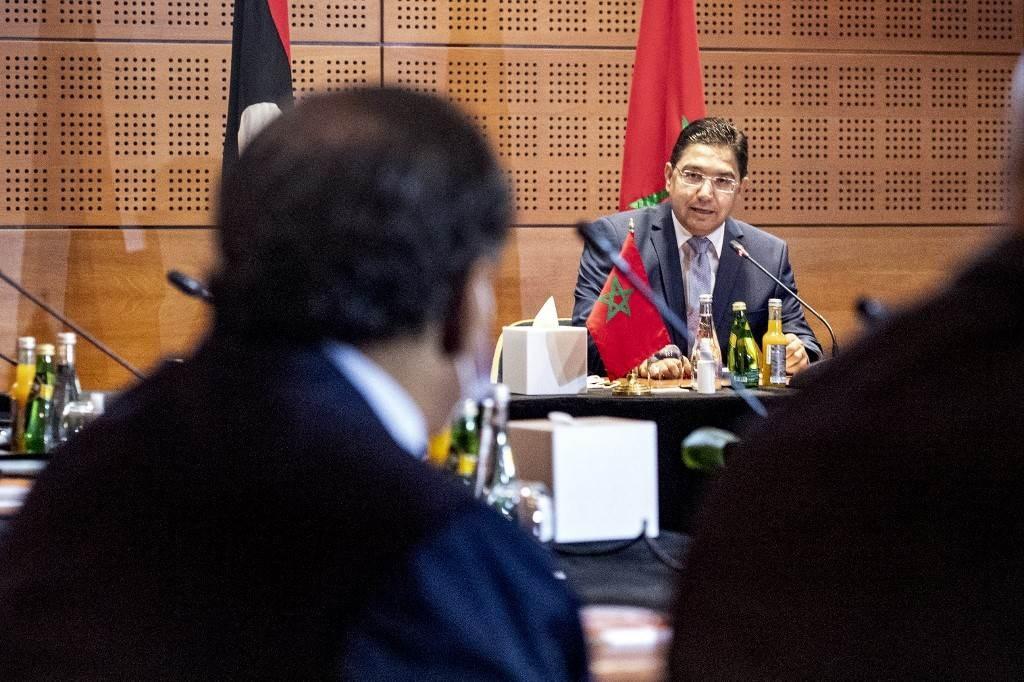 وزير الخارجية المغربي يترأس اجتماعاً لممثلي الإدارات الليبية في مدينة بوزنيقة (أ ف ب).