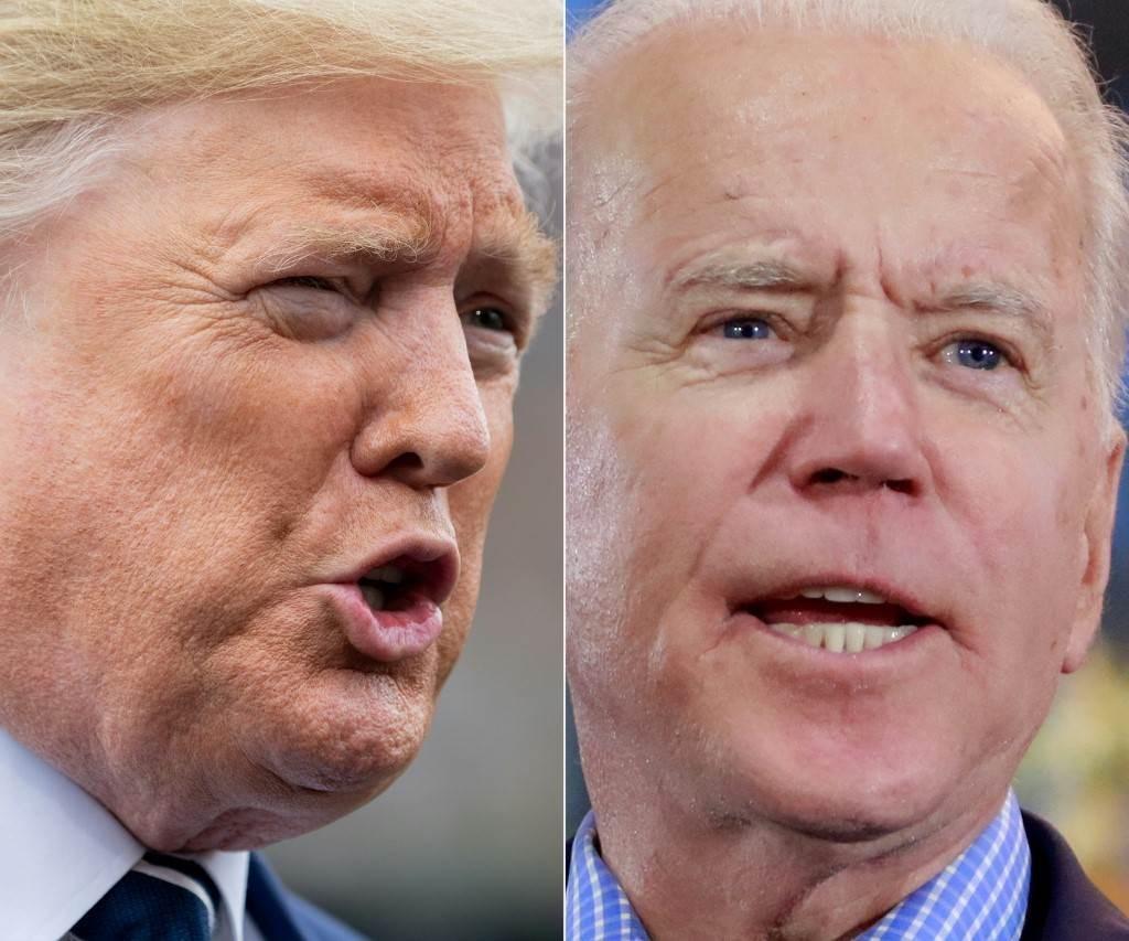 الرئيس الأميركي دونالد ترامب والمرشح الديمقراطي للانتخابات الرئاسية جو بايدن (أ ف ب).