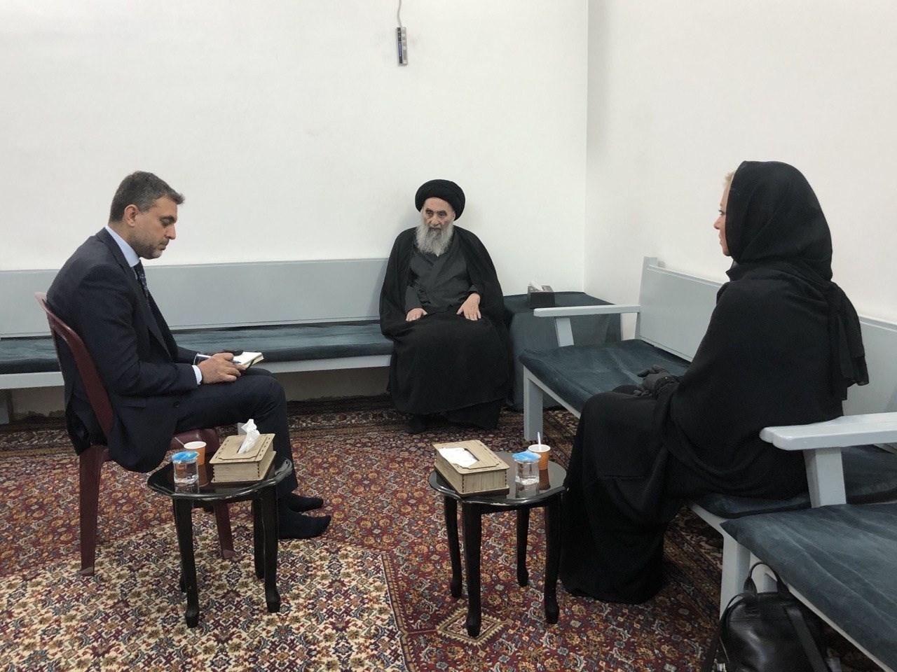 السيد السيستاني: يجب الحفاظ على سيادة العراق.. والانتخابات المبكرة أهميتها بالغة
