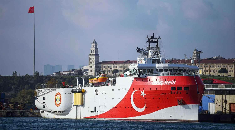السفينة التركية تغادر مياه المتوسط عائدة غلى مرفأ أنطاليا جنوب تركيا