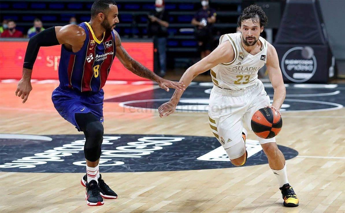 فاز ريال مدريد على برشلونة في مباراة كأس السوبر الإسبانية لكرة السلة