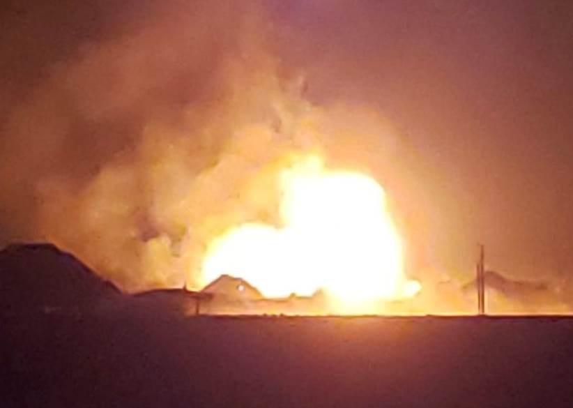 حريق كبير في ولاية أوكلاهوما الأميركية