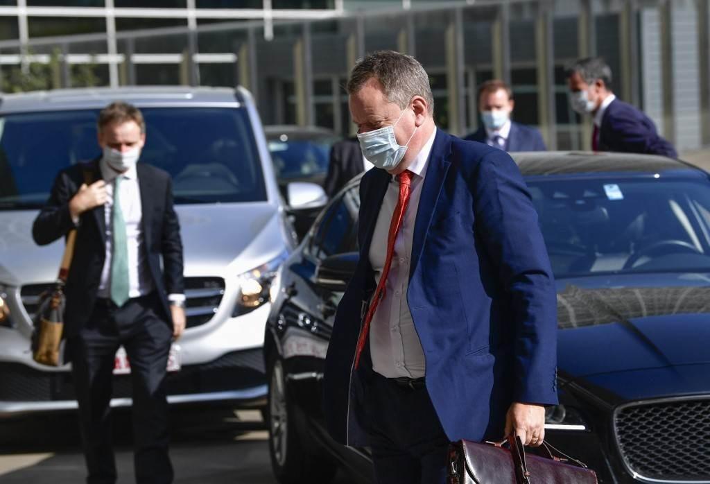 ديفيد فروست للقاء نظيره الأوروبي بشأن مفاوضات خروج بريطانيا من الاتحاد الأوروبي (أ ف ب).