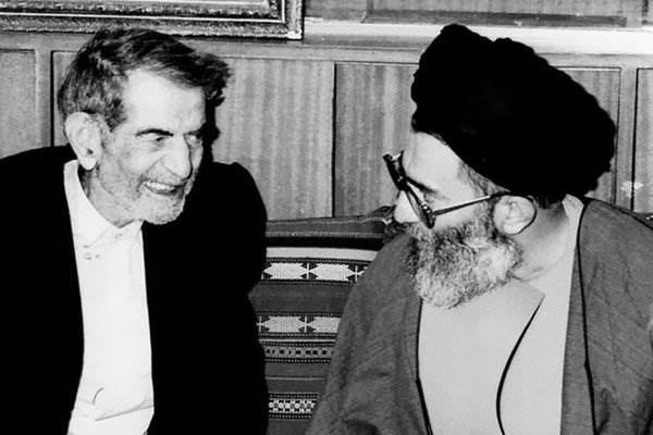 محمد حسين شهريار مع السيد علي خامنئي