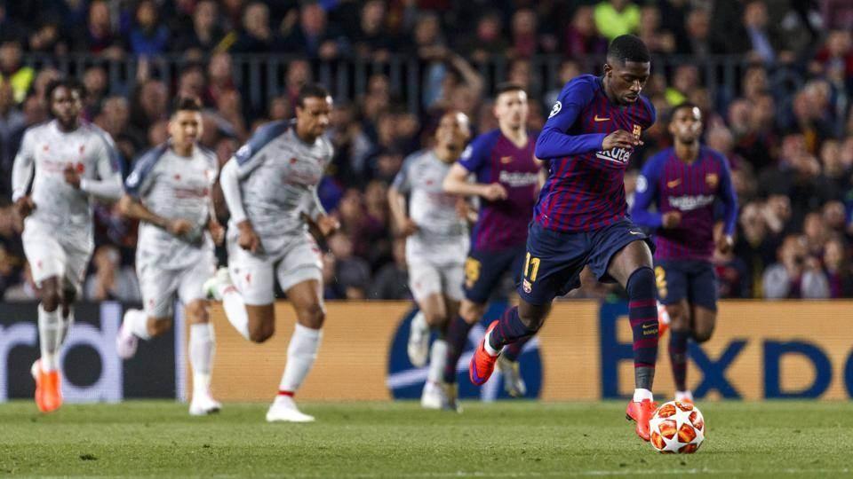 ديمبيلي في مباراة دوري الأبطال أمام ليفربول (أرشيف)