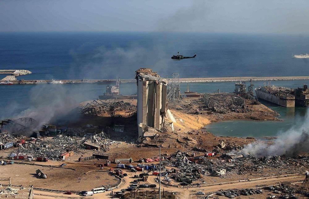 مرفأ بيروت بعد انفجار 4 آب