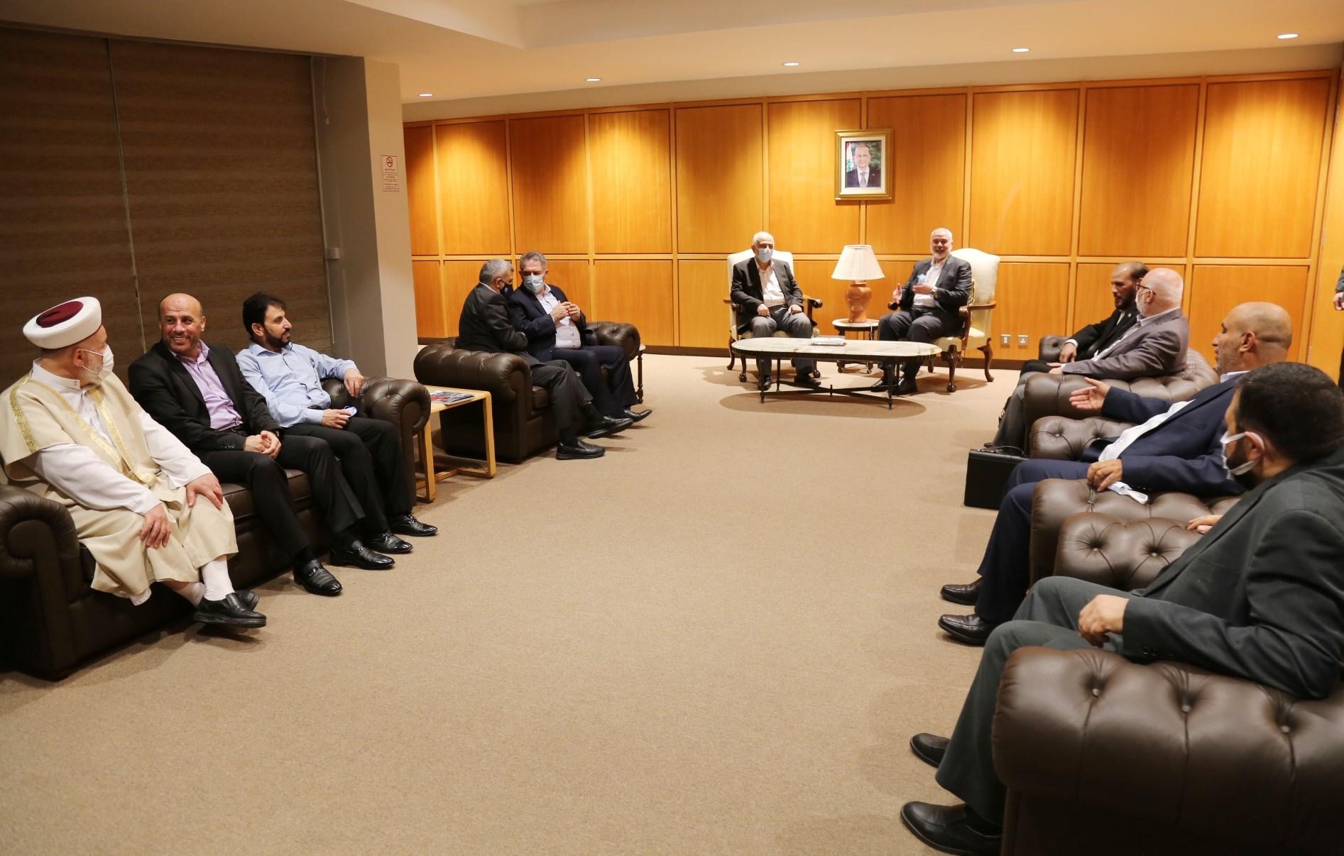 هنية سيلتقي خلال زيارته بيروت رؤساء الجمهورية والحكومة ومجلس النواب
