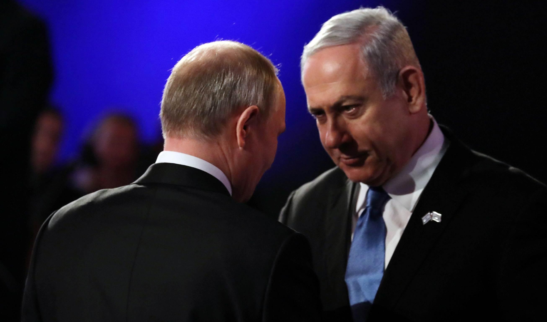 بوتين خلال لقائه نتنياهو في كانون الثاني/ يناير 2020