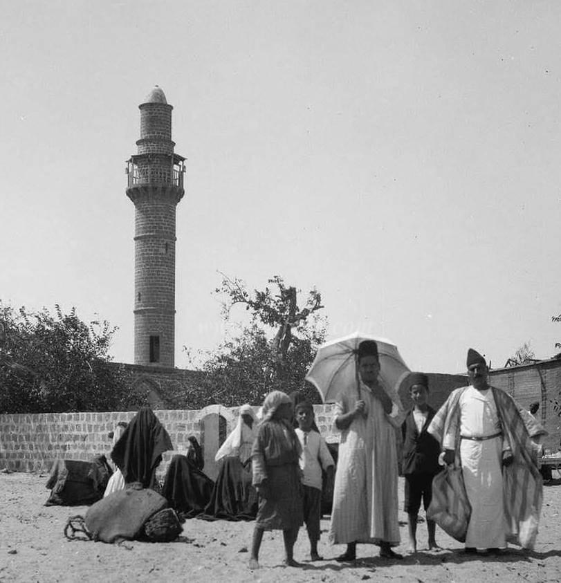 موسم النبي روبين وبدت مئذنة المسجد قبل تدميرها على يد الاحتلال