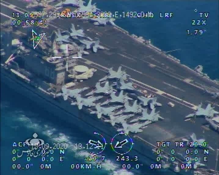 بحرية الحرس الثوري: رصدنا حاملة الطائرات الأميركية