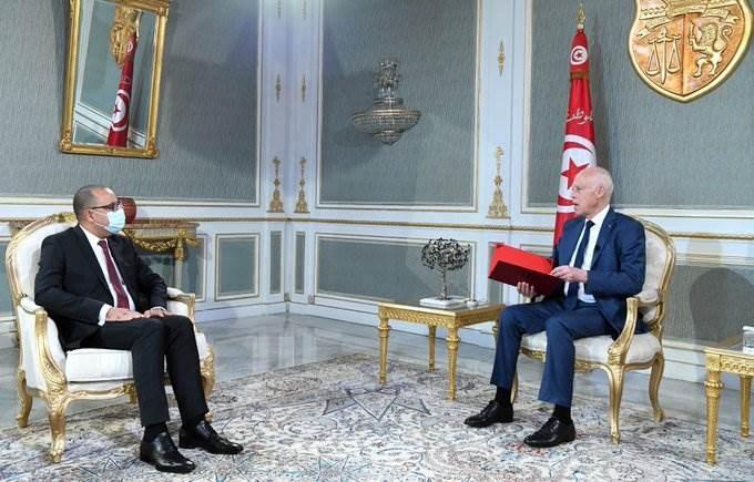 لقاء الرئيس قيس سعيد برئيس الحكومة هشام المشيشي